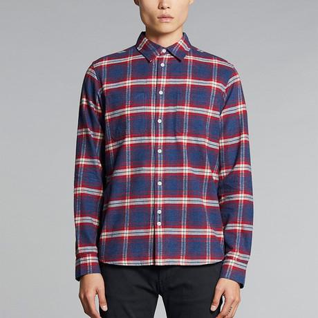 Vallegrande Check Flannel Shirt // Crimson (S)
