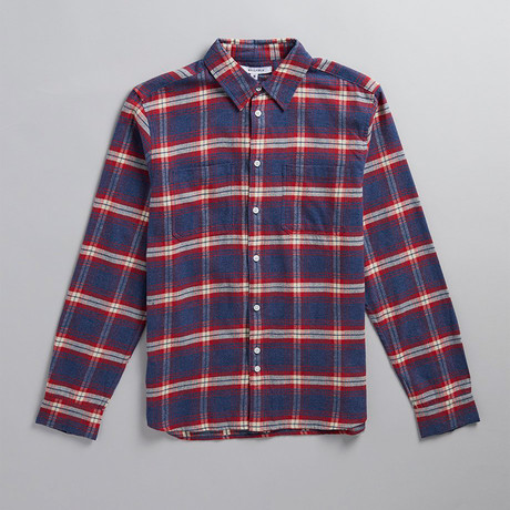 Vallegrande Check Flannel Shirt // Crimson (XS)