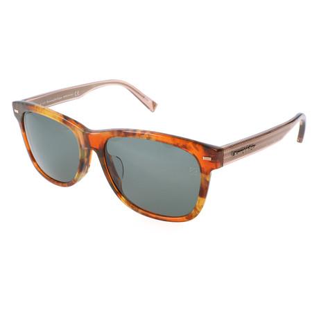 Men's EZ0028-F Sunglasses // Colored Havana + Green