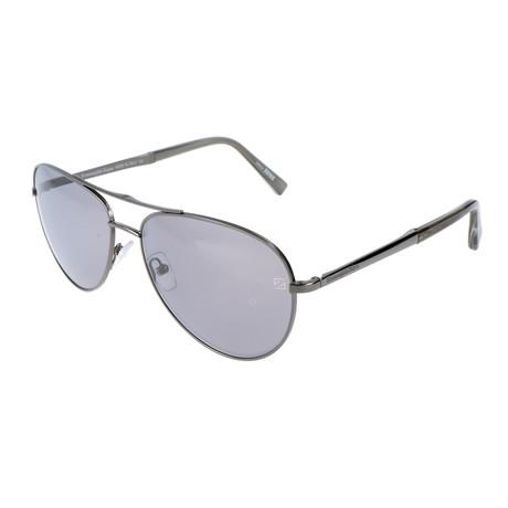 Men's EZ0035 Sunglasses // Shiny Dark Ruthenium + Smoke Mirror