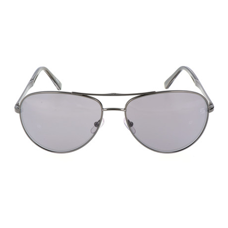 Ermenegildo Zegna // Men's EZ0035 Sunglasses // Shiny Dark Ruthenium