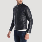 Santiago Leather Jacket // Navy (M)