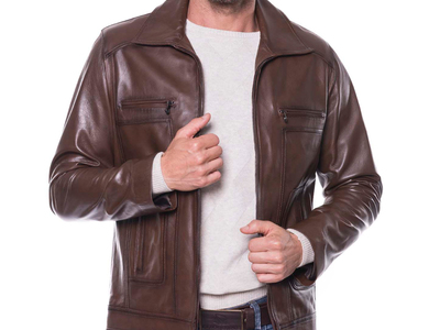 Photo of Giorgio di Mare Classically Cool Leather Jackets Mission Leather Jacket // Chestnut (S) by Touch Of Modern