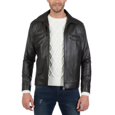 Rivera Leather Jacket // Brown (XS)