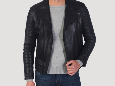Photo of Giorgio di Mare Classically Cool Leather Jackets Frederick Leather Jacket // Black (S) by Touch Of Modern