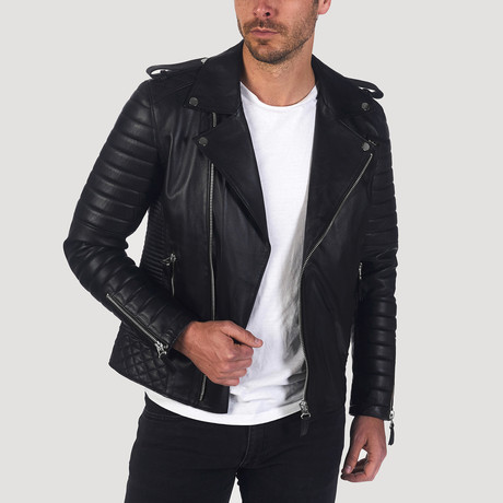 Campbell Leather Jacket // Black (S)