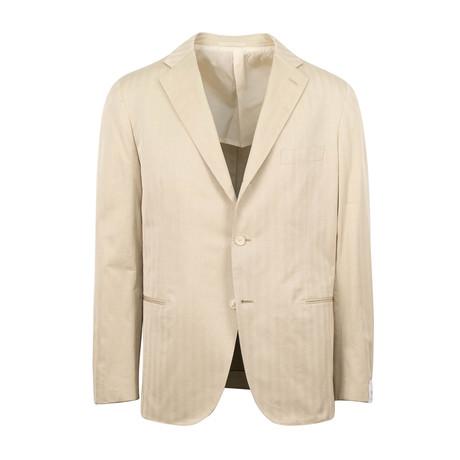 Cotton Slim Trim 2 Button Slim Fit Suit // Beige (Euro: 44S)