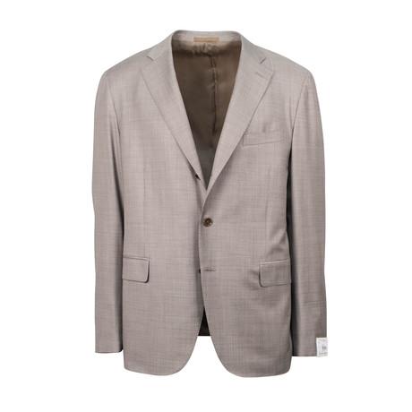 Wool Slim Trim 2 Button Slim Trim Fit Suit // Tan (Euro: 44S)