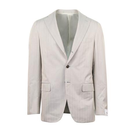 Cotton Slim Trim 2 Button Slim Fit Suit VI // Tan (Euro: 44S)