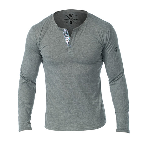 Samson Long Sleeve Henley // Heather Gray (S)