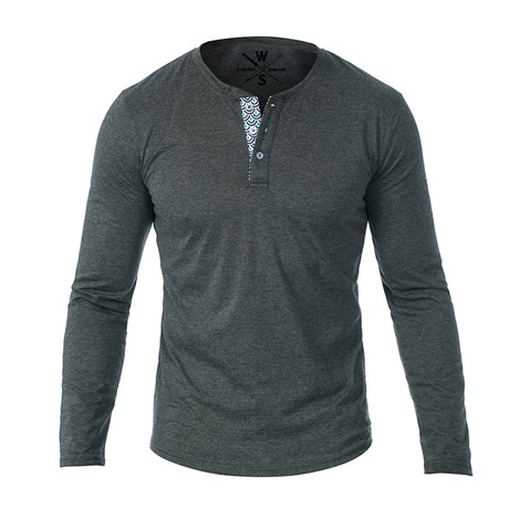 Samson Long Sleeve Henley // Dark Gray (S)