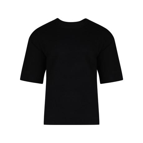 Veeko Short Sleeve Drop Shoulder Sweater // Black (S)