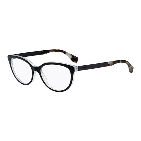 Fendi // Women's FF-0079 Optical Frames // Black + Pearl Crystal