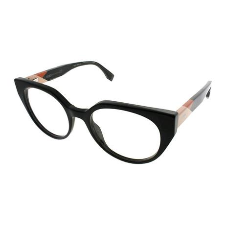 Fendi // Women's FF-0160 Optical Frames // Burgundy