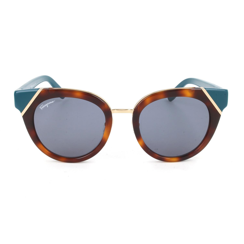 c67bcc714f007 Women s SF835S Sunglasses    Tortoise + Petrol - Salvatore Ferragamo ...