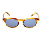 Unisex SF866S Sunglasses // Striped Brown