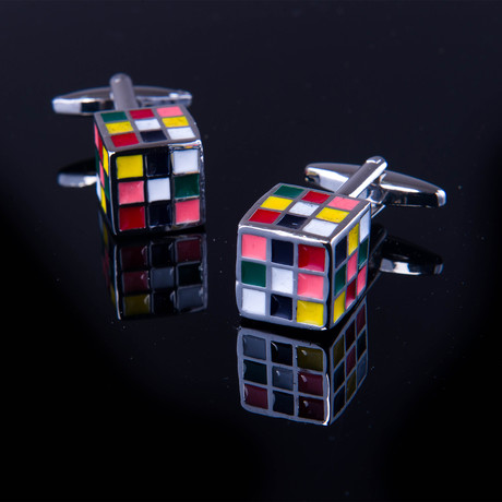 Exclusive Cufflinks + Gift Box // Multicolor Cube