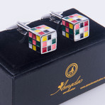 Exclusive Cufflinks + Gift Box // Multicolor Cube