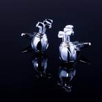 Exclusive Cufflinks + Gift Box // Silver Golf