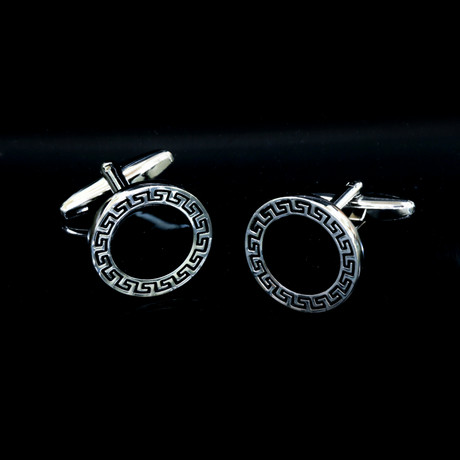 Exclusive Cufflinks + Gift Box // Round Greek