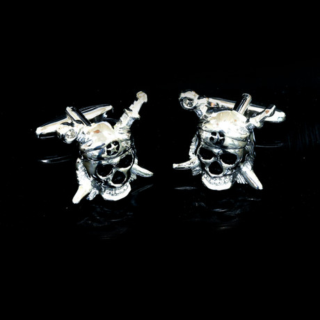 Exclusive Cufflinks Gift Box // Silver Pirates