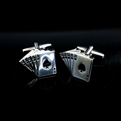 Exclusive Cufflinks + Gift Box // Silver Cards