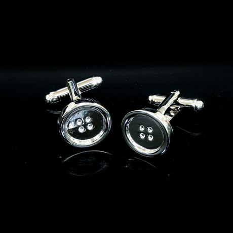 Exclusive Cufflinks + Gift Box // Silver Buttons