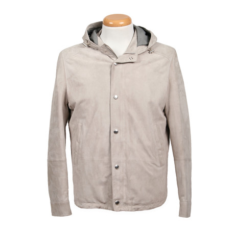 Leith Suede Jacket // Gray (XS)