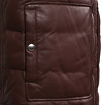Baran Leather Vest // Burgundy (XS)