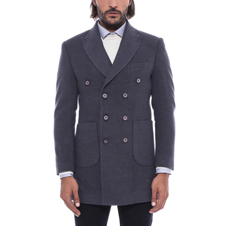 Clayton Coat // Smoke (Euro: 56)