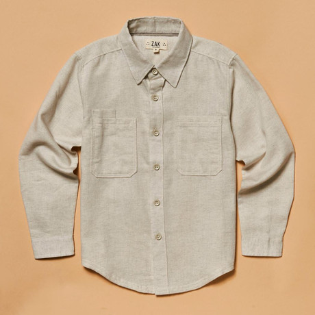 The Brentwood Button-Down Shirt // Oatmeal (S)