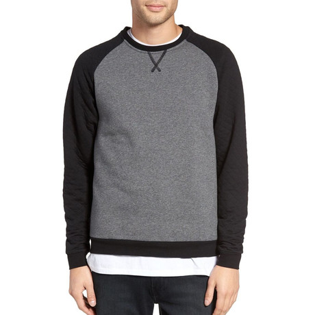 Keswick Crew Neck Sweater // Charcoal + Black (S)