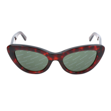 Women's BA0129 Sunglasses // Red Havana