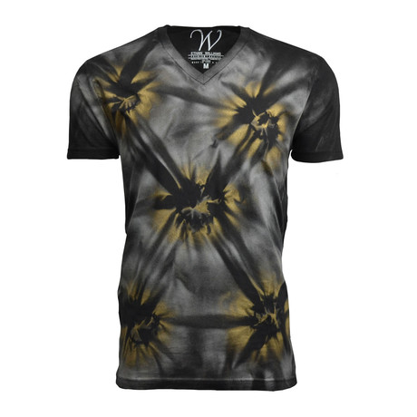 Ultra Soft Hand Dyed V-Neck // Black Tiger (S)
