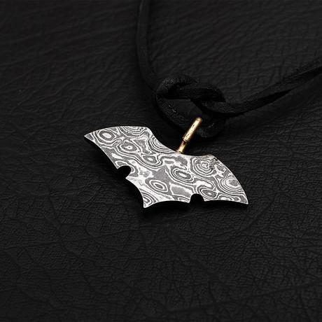 Damascus Bat Pendant // 1984