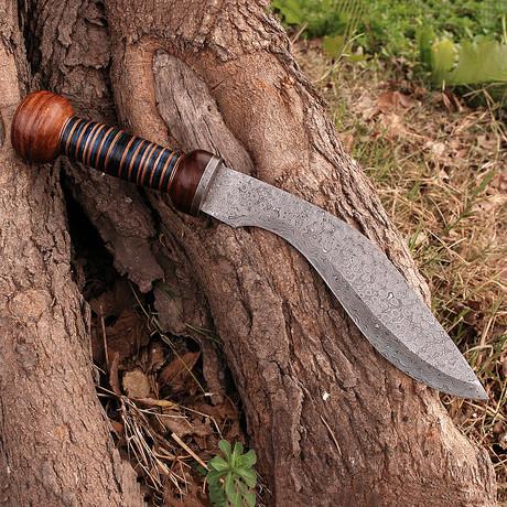 Damascus Kukri Knife // BK0249