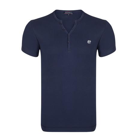 Maddox T-Shirt // Navy + Ecru (S)