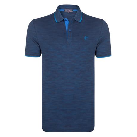 Elijah SS Polo Shirt // Navy + Sax (S)