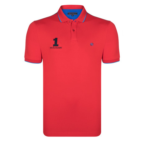 Ezra SS Polo Shirt // Red (S)