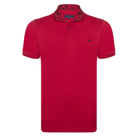 Jude SS Polo Shirt // Bordeaux (S)