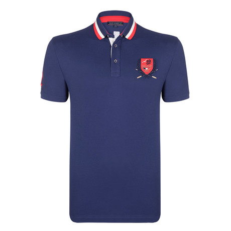 Roman SS Polo Shirt // Navy (S)
