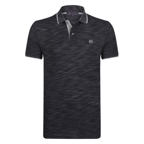 Grayson SS Polo Shirt // Black + Gray (S)