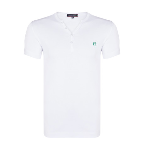 Jayden T-Shirt // White + Green (S)