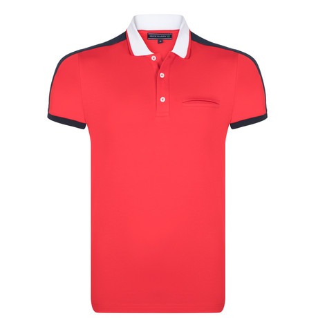 Jaxon SS Polo Shirt // Red (S)