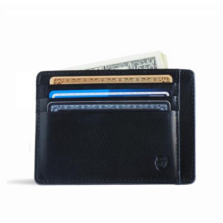 Minimalist RFID Protection Wallet // Vegetable Tanned // Black