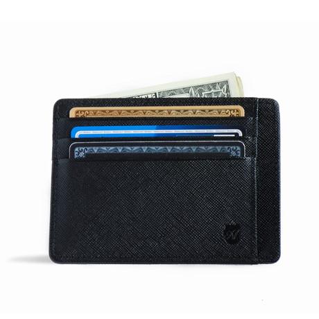 Minimalist RFID Protection Wallet // Saffiano // Black