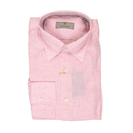 Salmon Modern Fit Shirt // Pink (S)