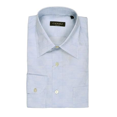 Geometric Regular Shirt // Light Blue (S)