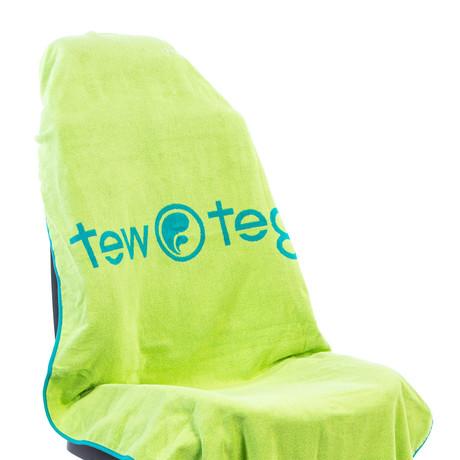Tew Teg Towel // Turquoise + Green
