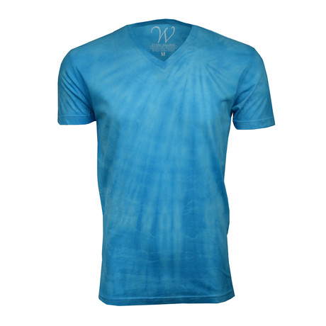 Ultra Soft Hand Dyed V-Neck // Aqua (S)